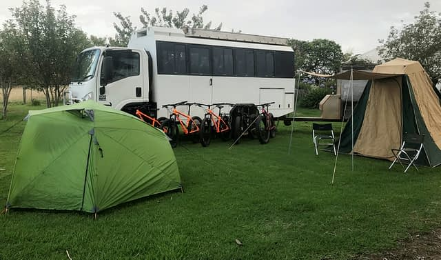 LifeCycle tour bus and gear
